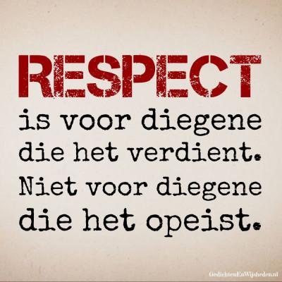 Verdien respect