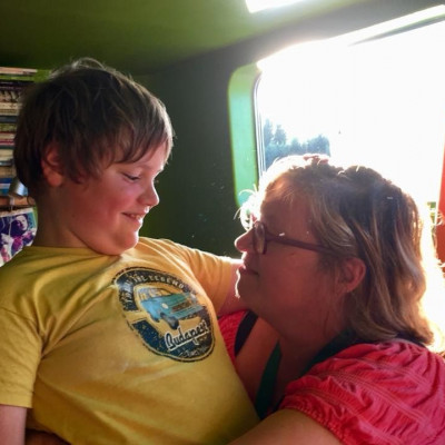 mama en Leif op de Saäda
